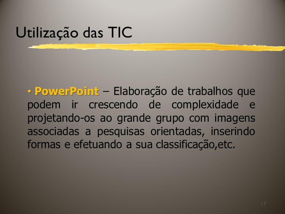 Utilização das TIC