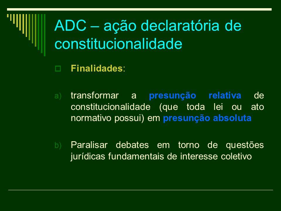 ADC – ação declaratória de constitucionalidade