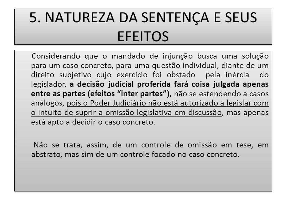 5. NATUREZA DA SENTENÇA E SEUS EFEITOS