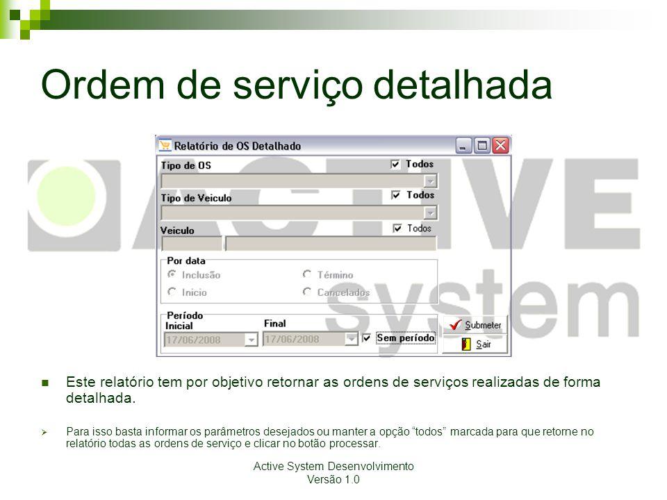 Ordem de serviço detalhada