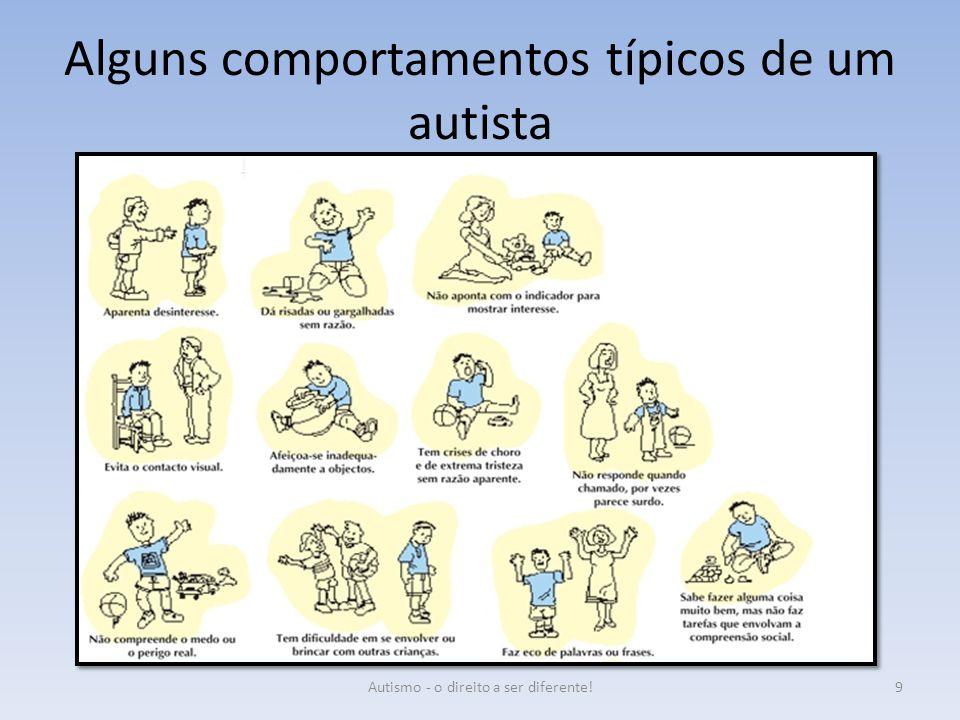 Alguns comportamentos típicos de um autista