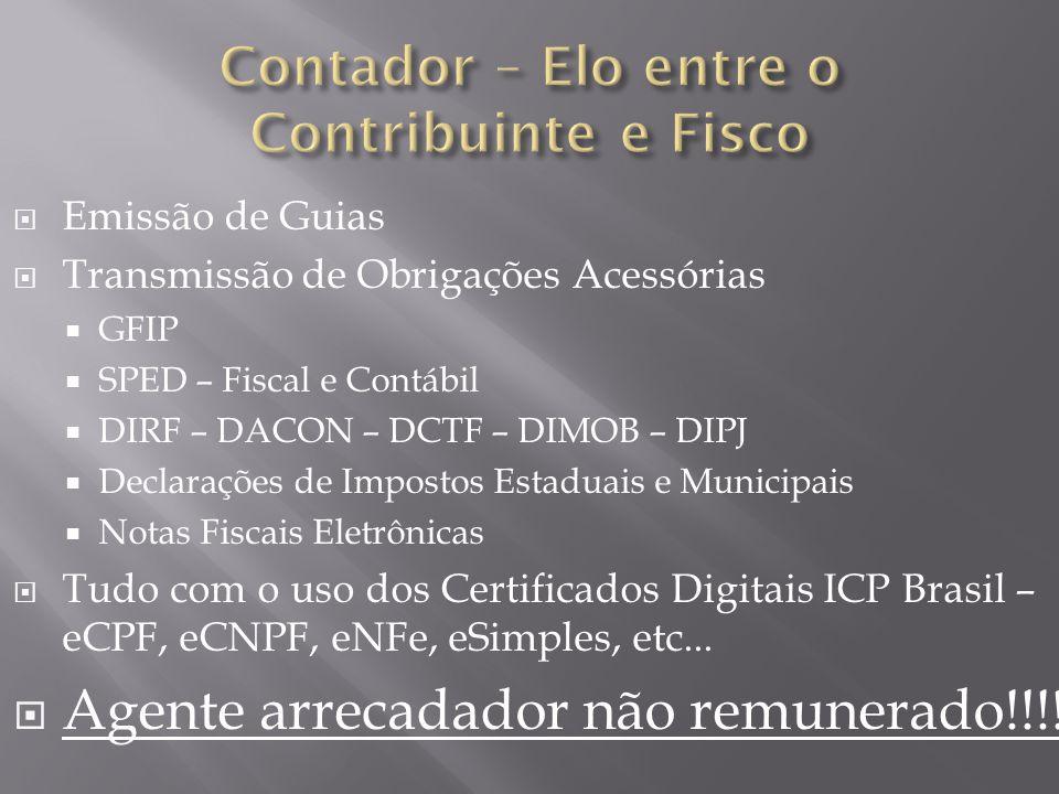 Contador – Elo entre o Contribuinte e Fisco