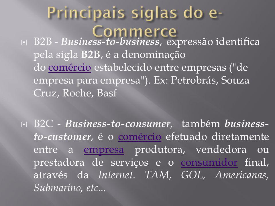 Principais siglas do e-Commerce