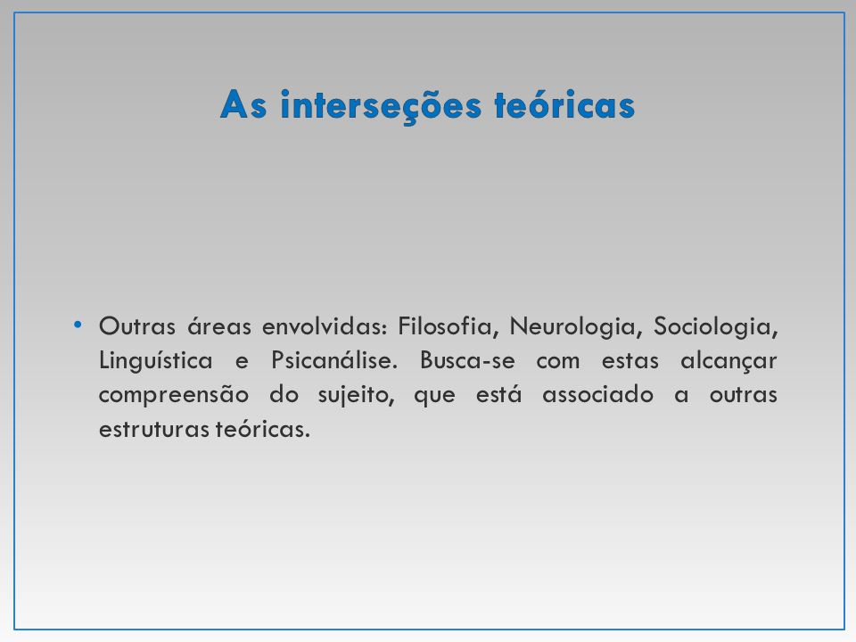 As interseções teóricas