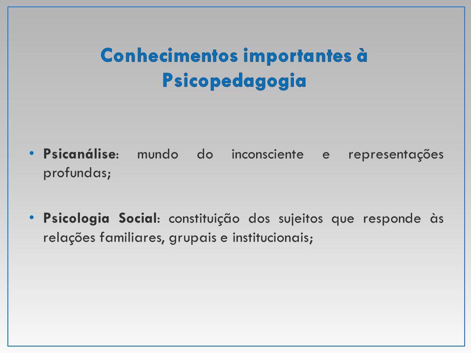 Conhecimentos importantes à Psicopedagogia