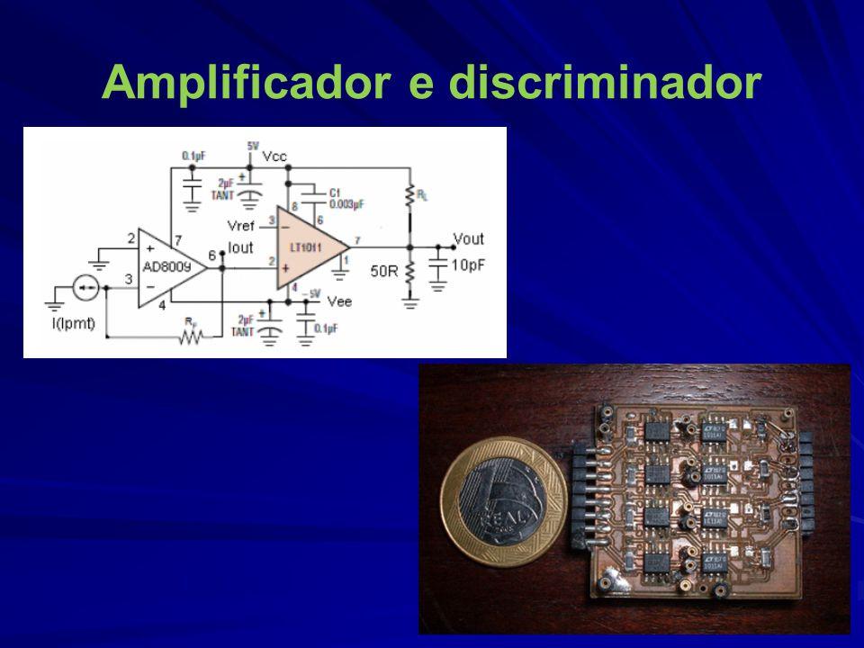 Amplificador e discriminador