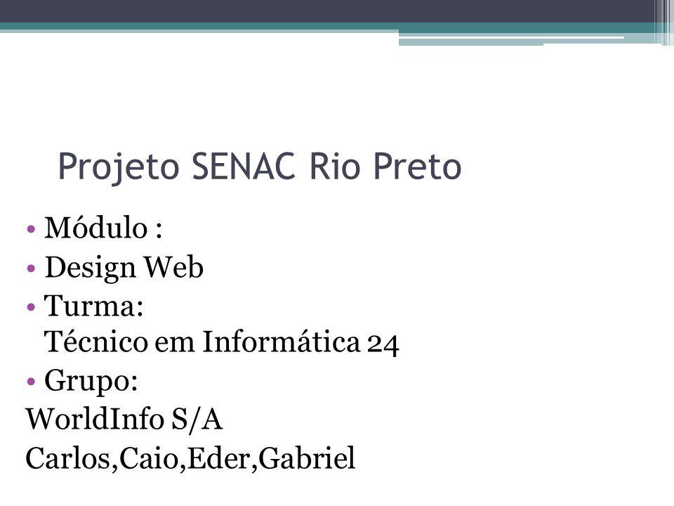 Projeto SENAC Rio Preto