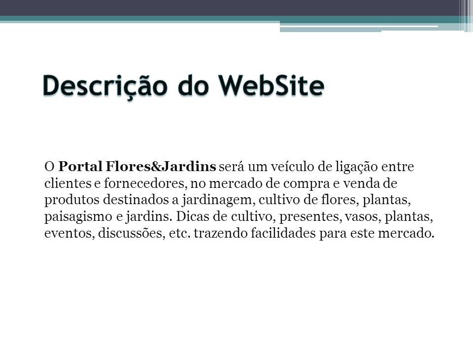 Descrição do WebSite
