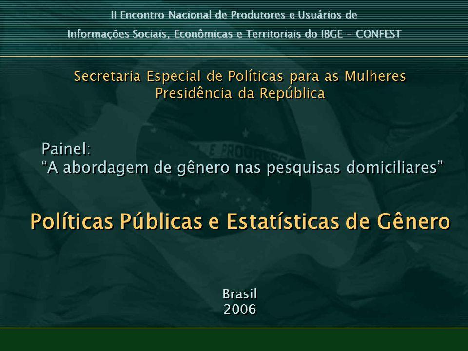 Políticas Públicas e Estatísticas de Gênero