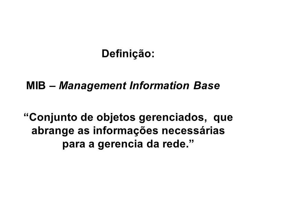 MIB – Management Information Base