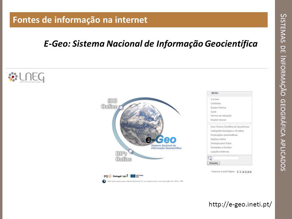Sistemas de Informação geográfica aplicados