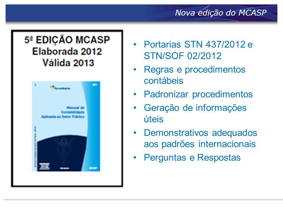 Portarias STN 437/2012 e STN/SOF 02/2012