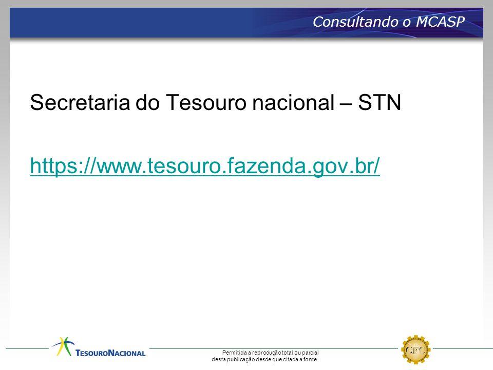 Consultando o MCASP Secretaria do Tesouro nacional – STN https://www.tesouro.fazenda.gov.br/