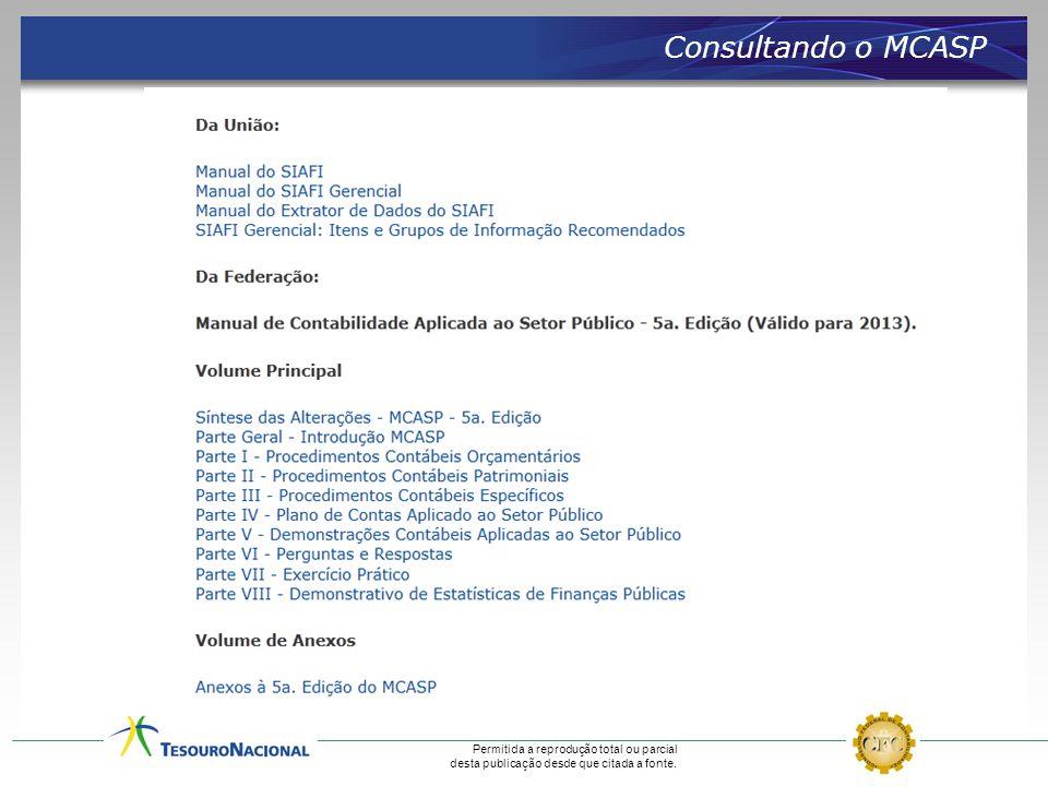Consultando o MCASP