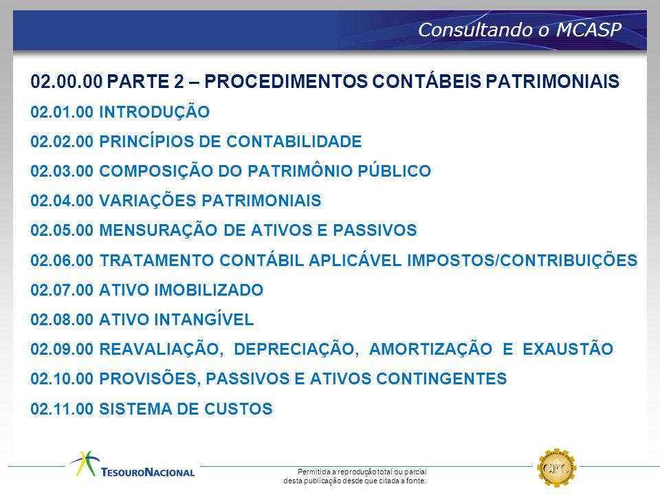 02.00.00 PARTE 2 – PROCEDIMENTOS CONTÁBEIS PATRIMONIAIS