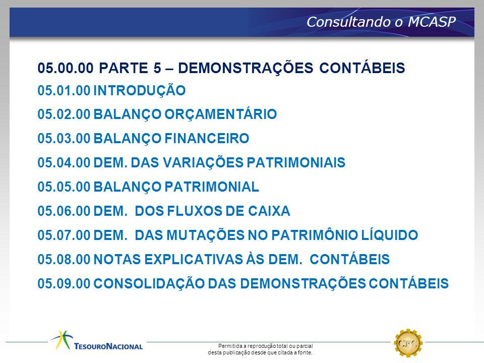 05.00.00 PARTE 5 – DEMONSTRAÇÕES CONTÁBEIS