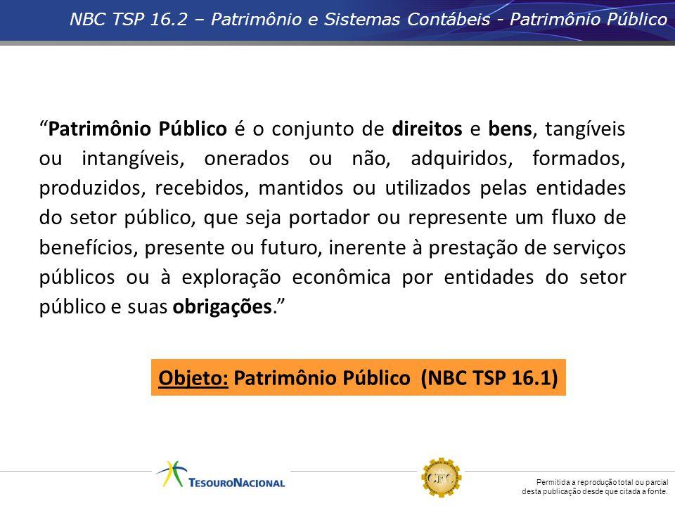 Objeto: Patrimônio Público (NBC TSP 16.1)