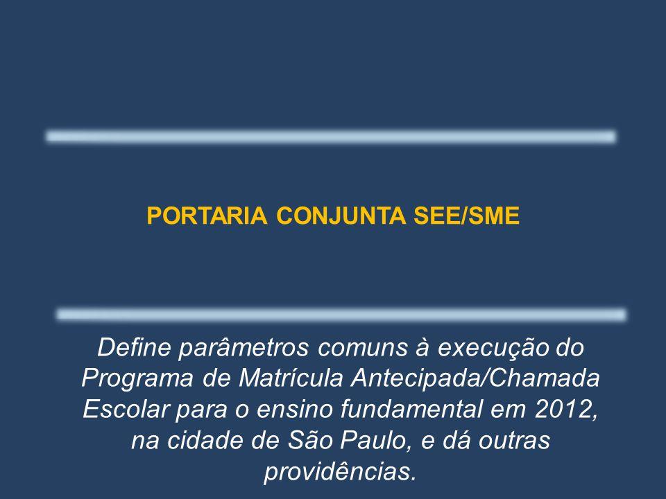 PORTARIA CONJUNTA SEE/SME