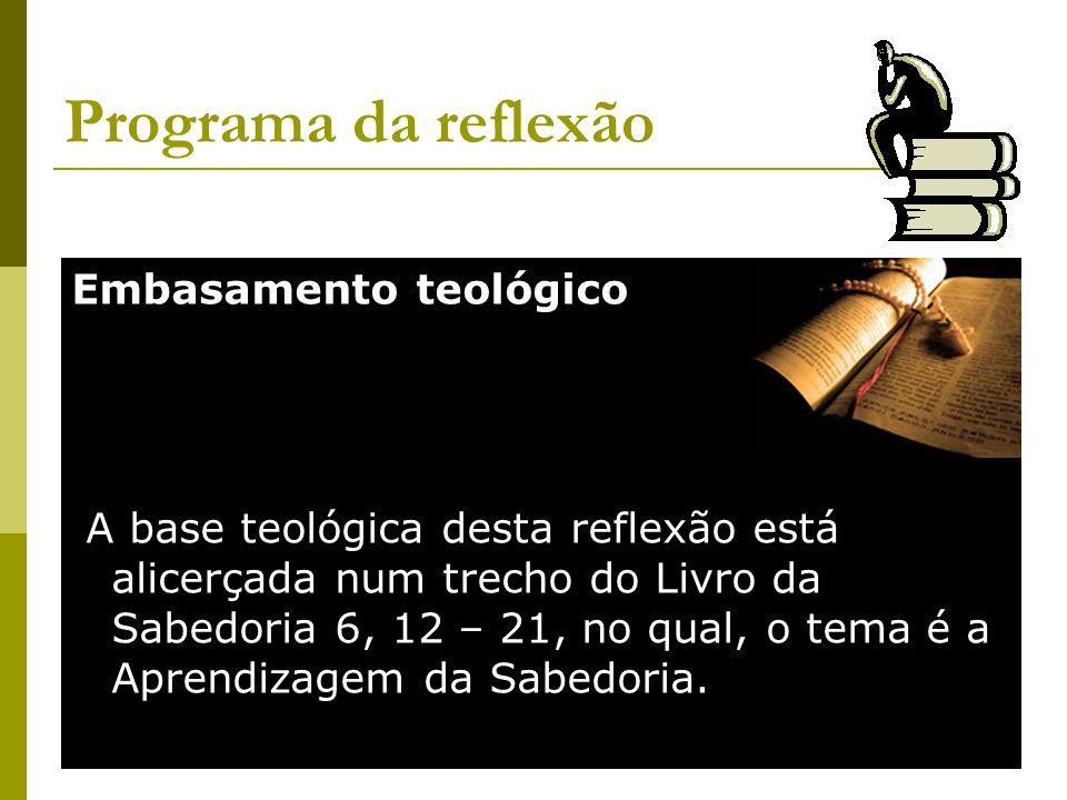 Programa da reflexão Embasamento teológico