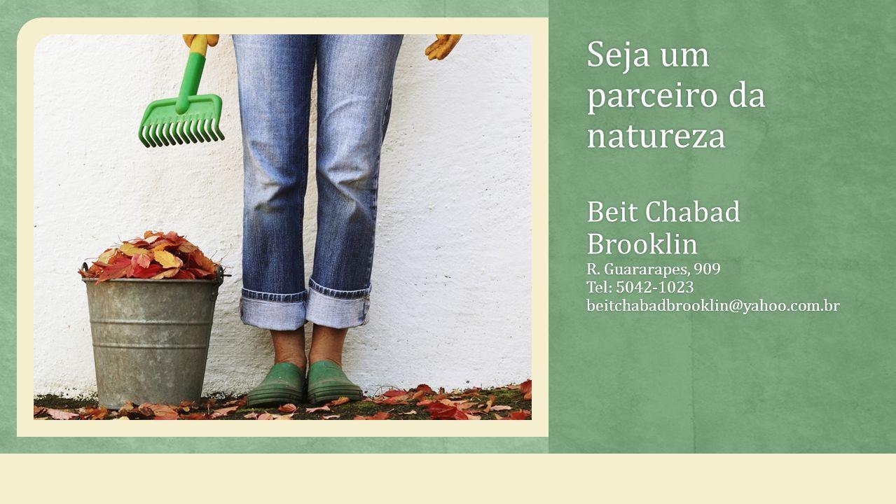 Seja um parceiro da natureza Beit Chabad Brooklin R