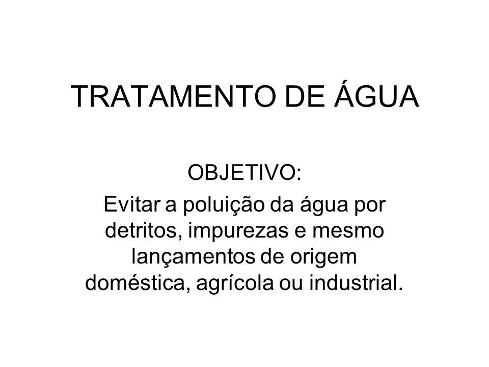 TRATAMENTO DE ÁGUA OBJETIVO: