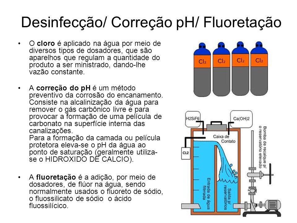Desinfecção/ Correção pH/ Fluoretação