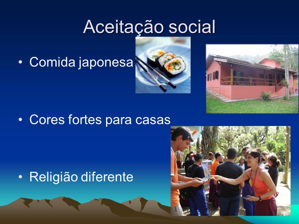Aceitação social Comida japonesa Cores fortes para casas