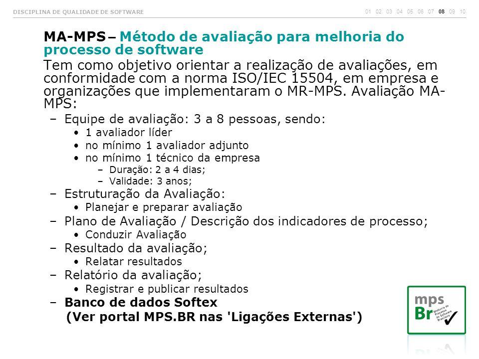 MA-MPS – Método de avaliação para melhoria do processo de software
