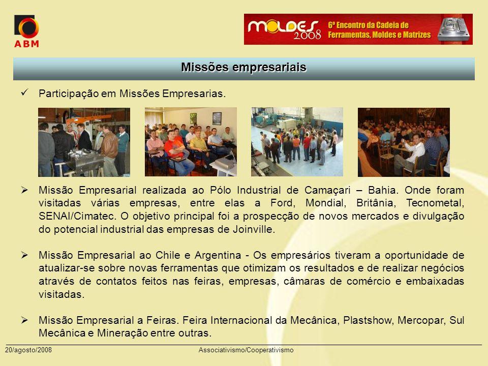 Missões empresariais Participação em Missões Empresarias.
