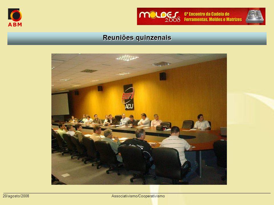 Reuniões quinzenais 20/agosto/2008 Associativismo/Cooperativismo
