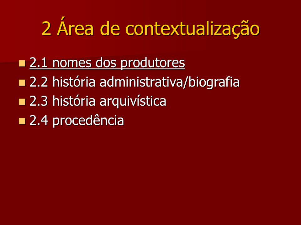 2 Área de contextualização