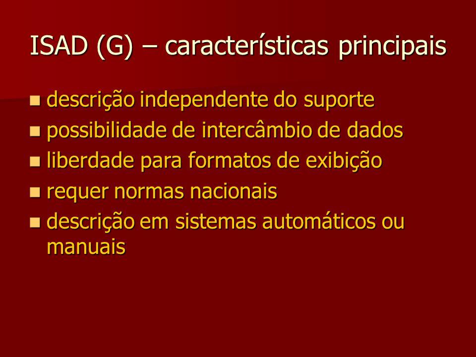 ISAD (G) – características principais