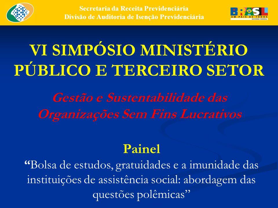VI SIMPÓSIO MINISTÉRIO PÚBLICO E TERCEIRO SETOR