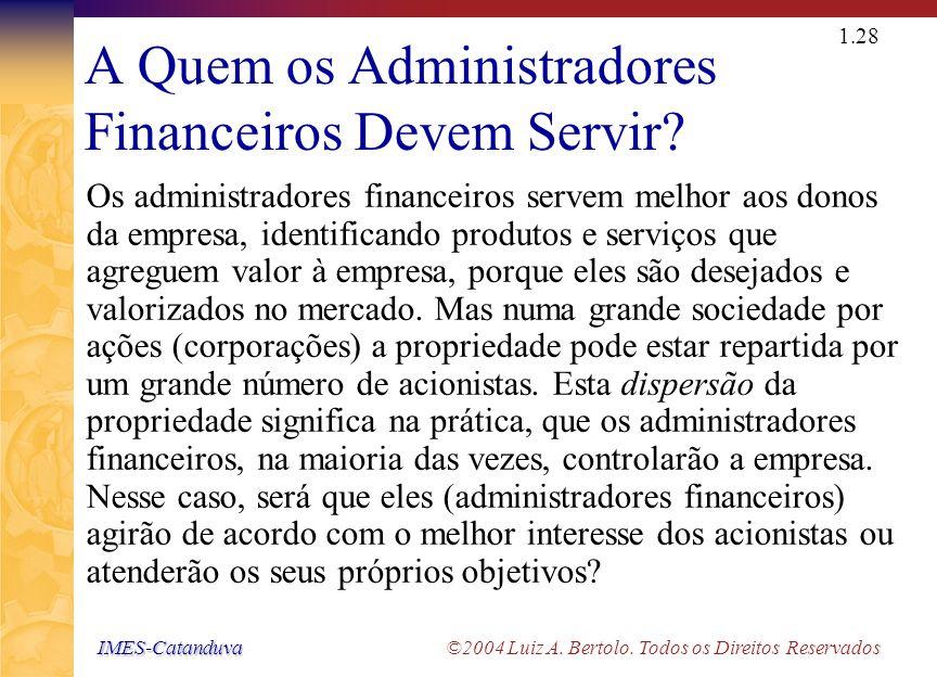 O Problema de Agency Relação de representação (Agency)