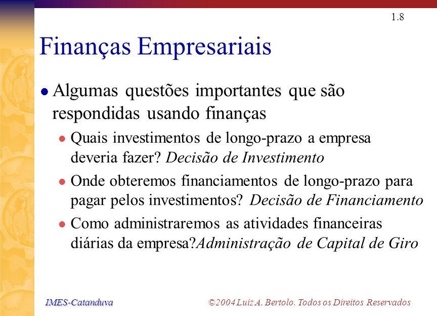 O Papel do Administrador Financeiro