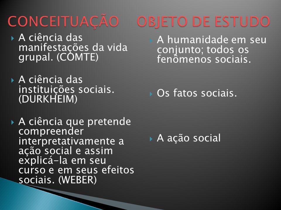 CONCEITUAÇÃO OBJETO DE ESTUDO