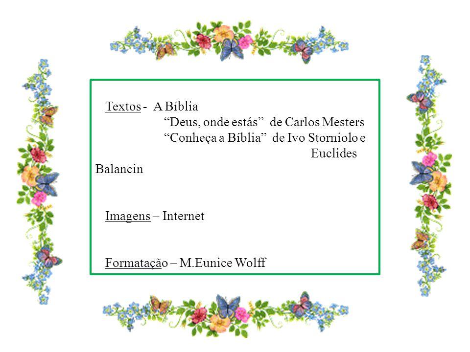 Textos - A Bíblia Deus, onde estás de Carlos Mesters. Conheça a Bíblia de Ivo Storniolo e. Euclides Balancin.
