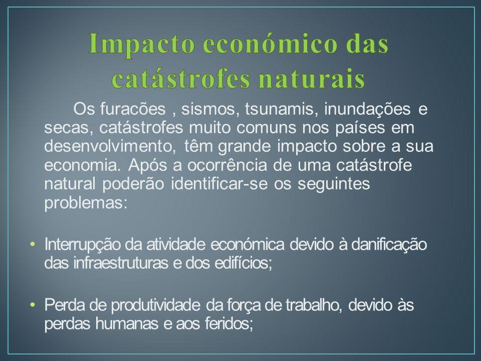 Impacto económico das catástrofes naturais