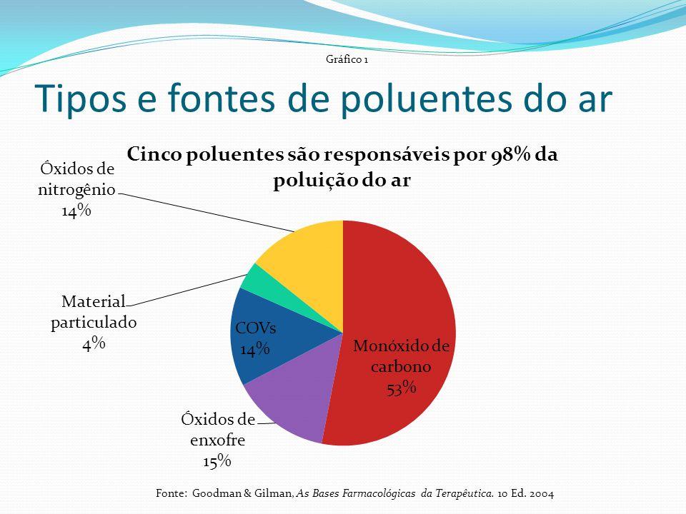 Tipos e fontes de poluentes do ar