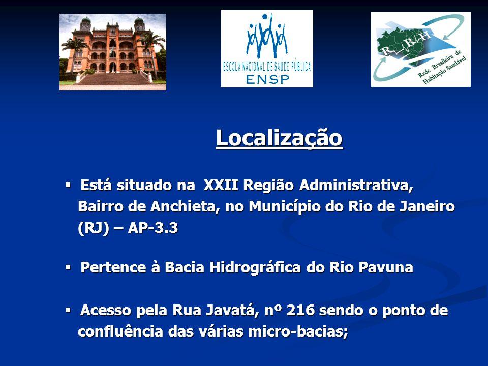 Localização Está situado na XXII Região Administrativa,