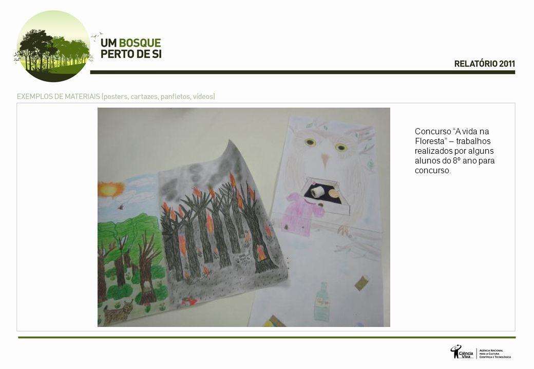 Concurso A vida na Floresta – trabalhos realizados por alguns alunos do 8º ano para concurso.