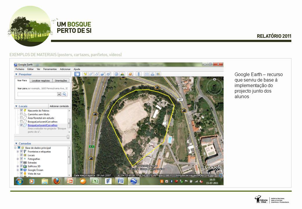 Google Earth – recurso que serviu de base à implementação do projecto junto dos alunos