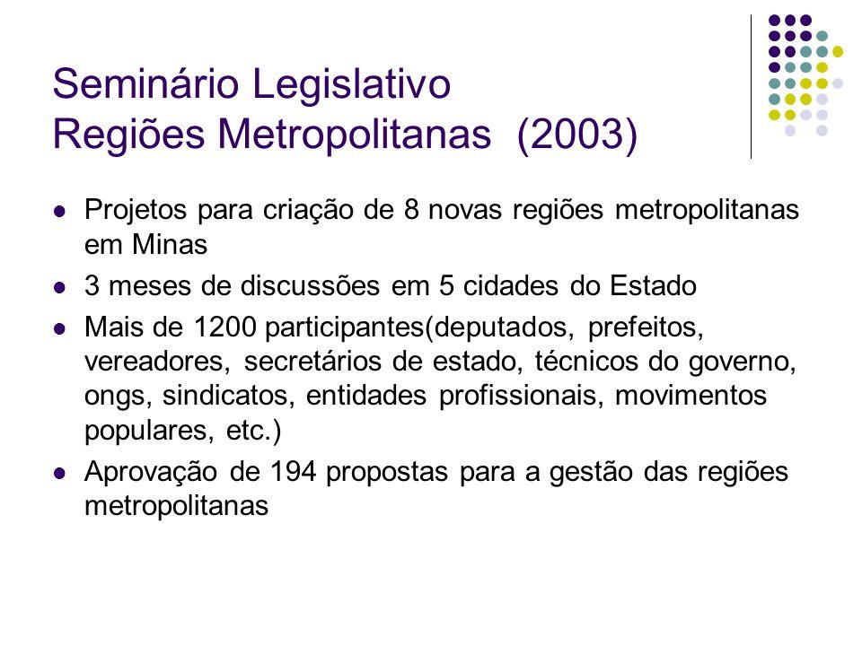 Seminário Legislativo Regiões Metropolitanas (2003)