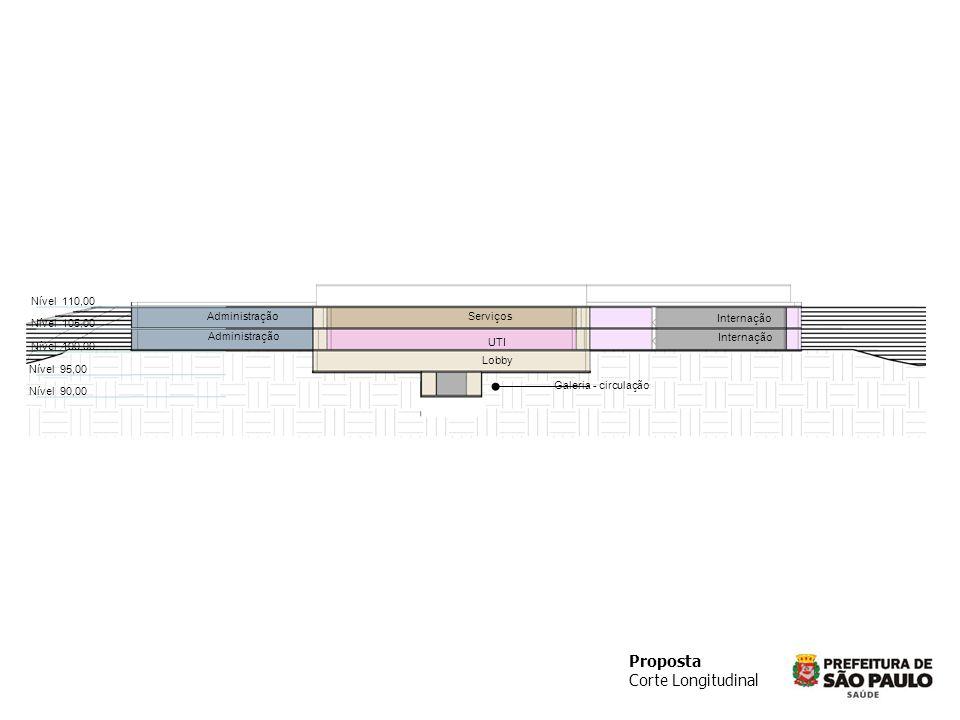 Proposta Corte Longitudinal Nível 110,00 Administração Serviços