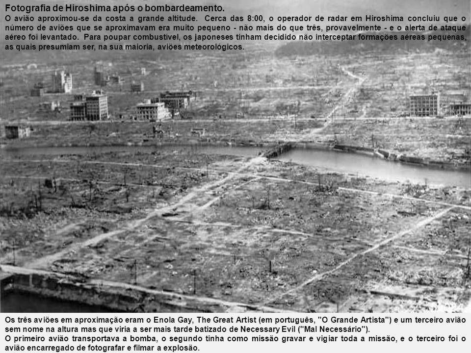 Fotografia de Hiroshima após o bombardeamento.
