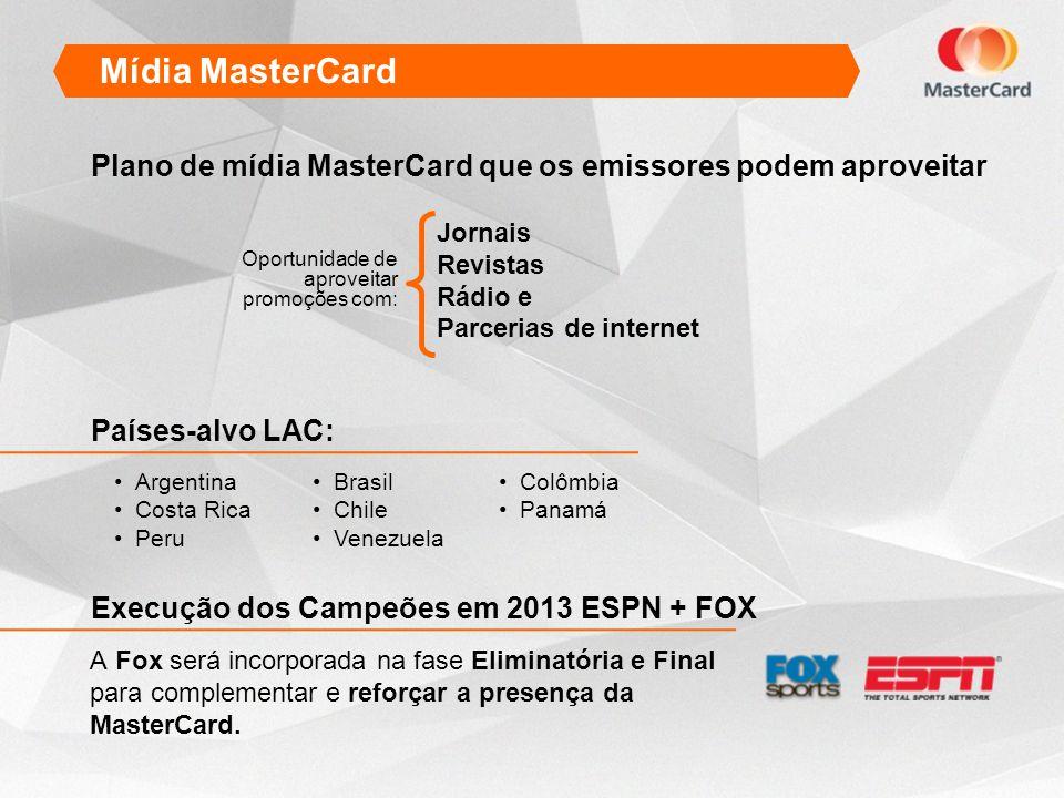 Mídia MasterCard Plano de mídia MasterCard que os emissores podem aproveitar. Jornais. Revistas. Rádio e.