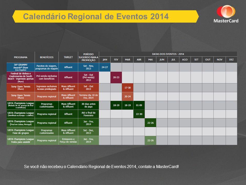Calendário Regional de Eventos 2014