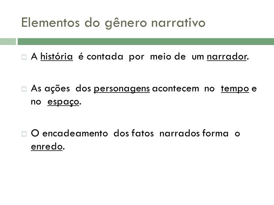 Elementos do gênero narrativo