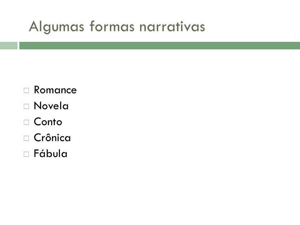 Algumas formas narrativas