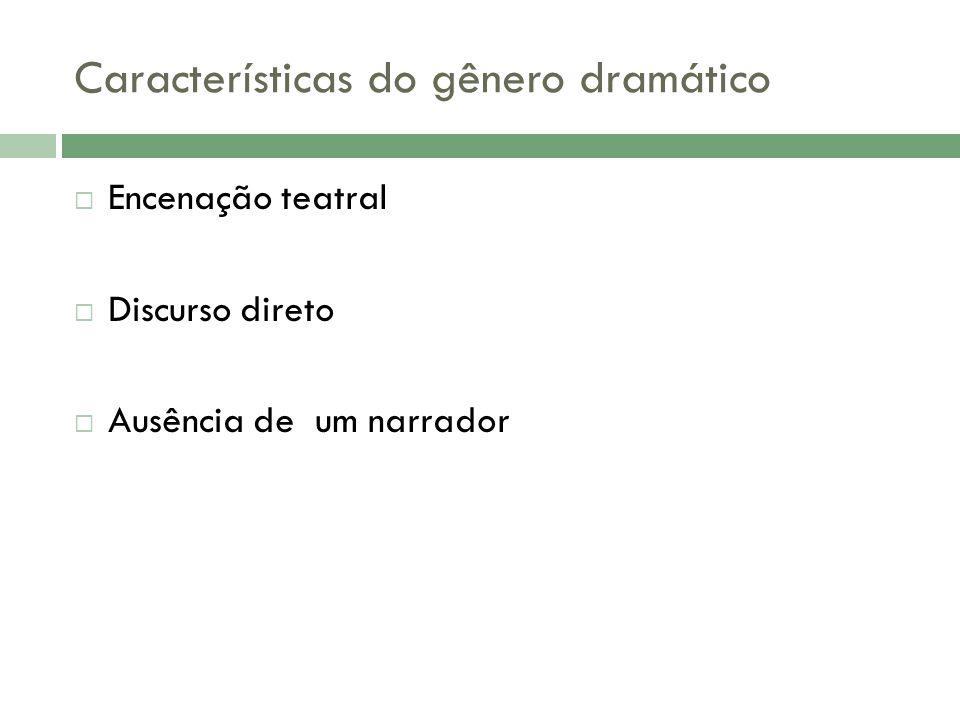 Características do gênero dramático